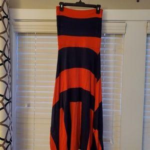 Orange and Navy dress/skirt